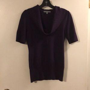 Classiques Entier purple cowl neck sweater